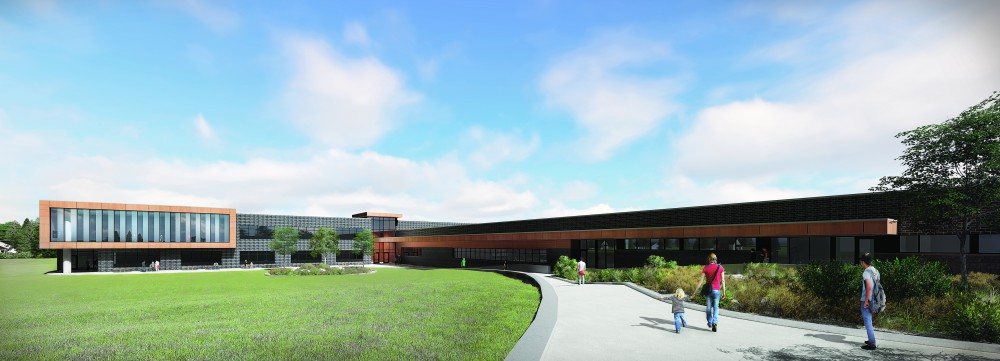 Rendering for new Sioux Lookout High School