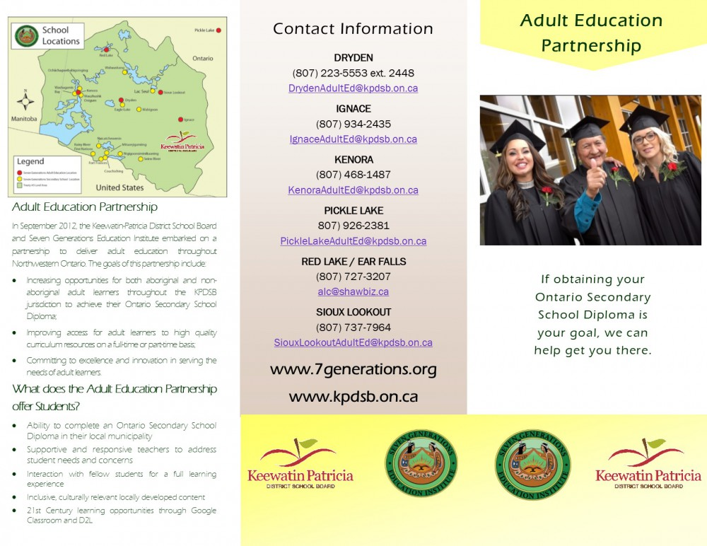 Image of Adult Education Brochure