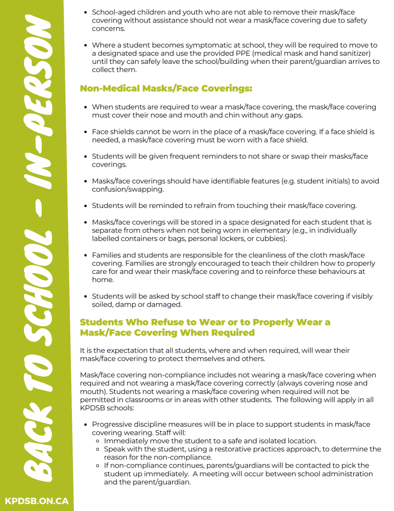 Masking Guidelines for Students - Page 2
