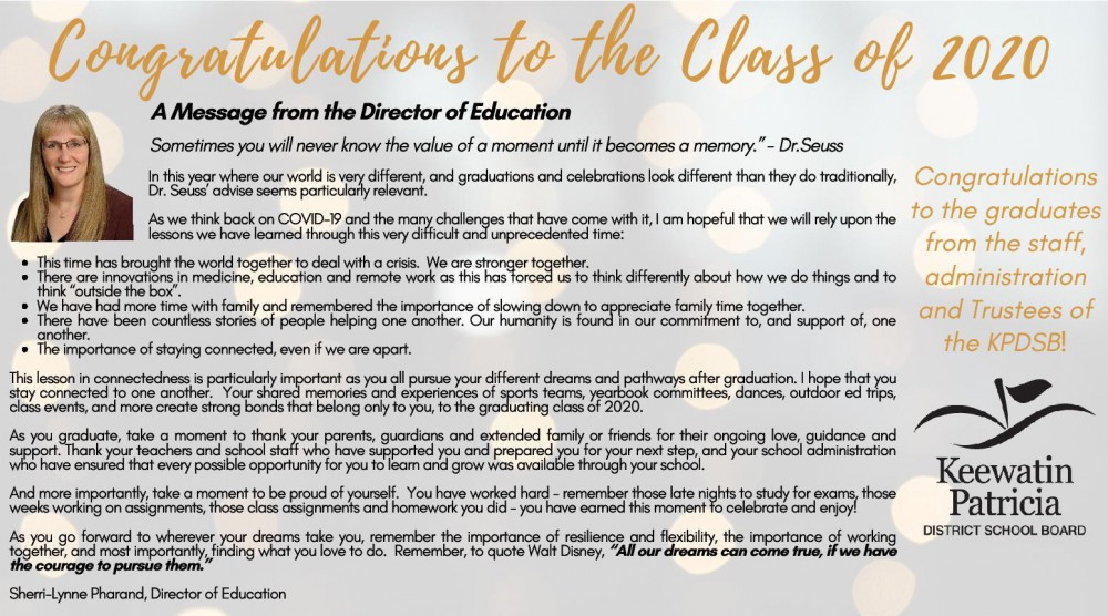 Graduation Message from DOE