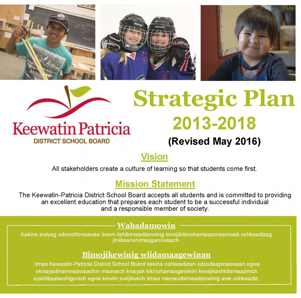 Image of front page of strategic plan