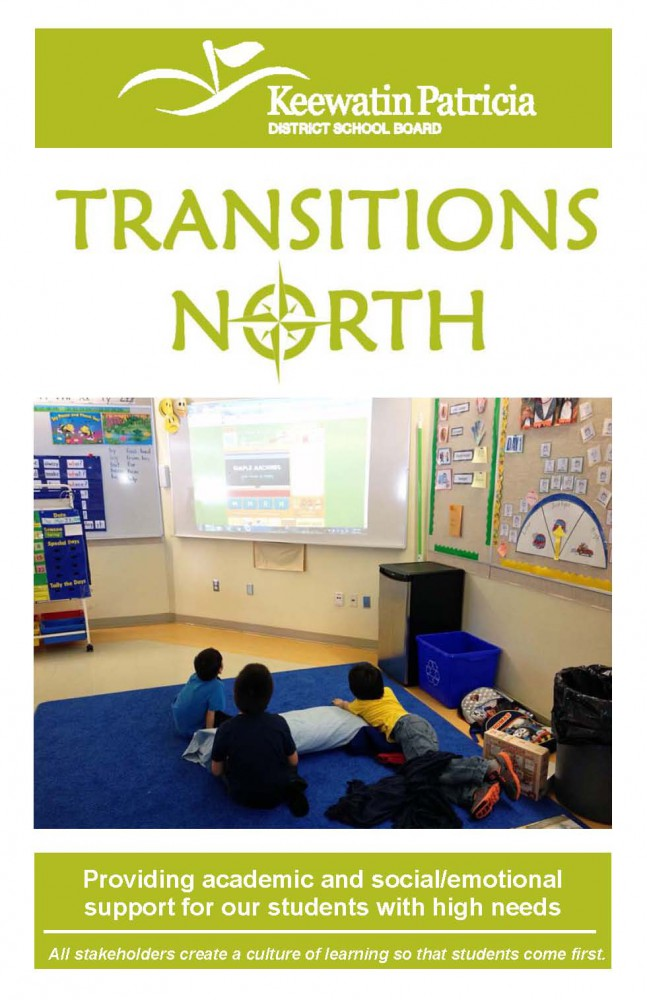 Image for Front Page of Transitions North Brochure